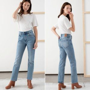 & Other Stories Slim Fit High Rise Jeans 24